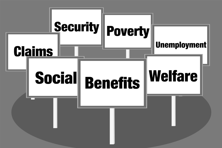 Benefits and welfare signs